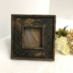 VINTAGE Wooden Picture Frame 3X3 Inch photo
